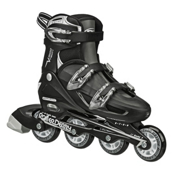 Roller Derby V Tech 500 Adjustable Kids Inline Skates, Black-Grey, medium