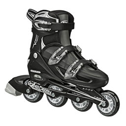 Roller Derby V Tech 500 Adjustable Kids Inline Skates, Black-Grey, 256
