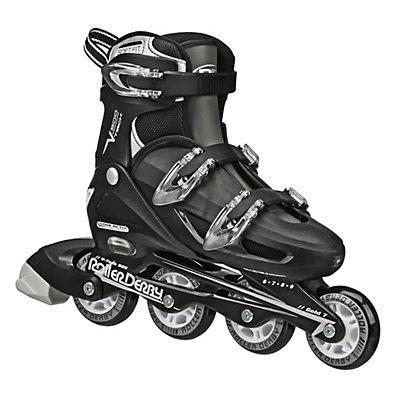 Roller Derby V Tech 500 Adjustable Kids Inline Skates, Black-Grey, viewer