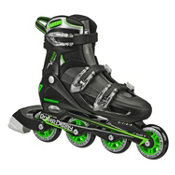 Roller Derby V Tech 500 Adjustable Kids Inline Skates, Black-Green, medium