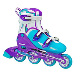 Roller Derby V Tech 500 Adjustable Girls Inline Skates, Blue-Purple, 256