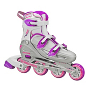 Roller Derby V Tech 500 Adjustable Girls Inline Skates, Grey-Purple, medium
