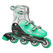 Roller Derby V Tech 500 Adjustable Girls Inline Skates, Mint, medium