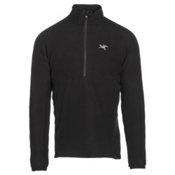Arc'teryx Delta LT Zip Neck Mens Mid Layer, Black, medium