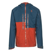 Scott Explorair 3L Mens Shell Ski Jacket, Eclipse Blue-Burnt Orange, medium