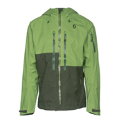 Scott Explorair 3L Mens Shell Ski Jacket, Leaf Green-Alpine Green, medium