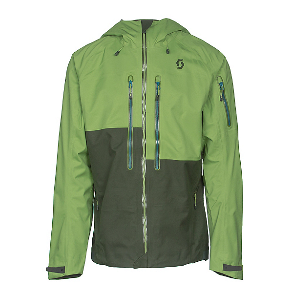 Scott Explorair 3L Mens Shell Ski Jacket, Leaf Green-Alpine Green, 600
