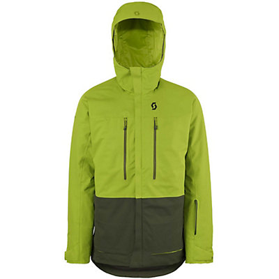 Scott Vertic 2L Mens Insulated Ski Jacket, Leaf Green-Alpine Green, viewer