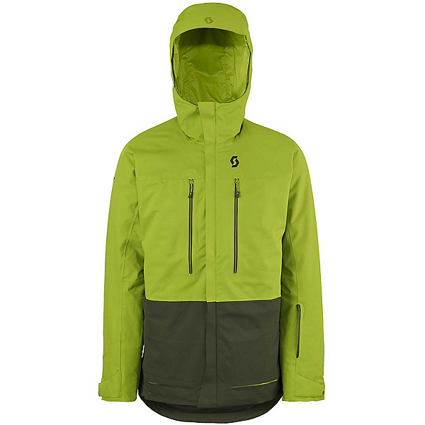 Scott Vertic 2L Mens Insulated Ski Jacket, Leaf Green-Alpine Green, 600