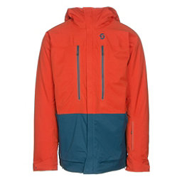 Scott Vertic 2L Mens Insulated Ski Jacket, Burnt Orange-Eclipse Blue, 256