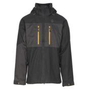 Scott Ultimate Dryo Mens Insulated Ski Jacket, Black Heather-Earth Grey Heath, medium