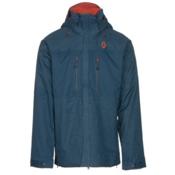 Scott Ultimate Dryo Mens Insulated Ski Jacket, Eclipse Blue Heather-Eclipse B, medium