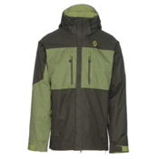 Scott Ultimate Dryo Mens Insulated Ski Jacket, Alpine Green Heather-Leaf Gree, medium