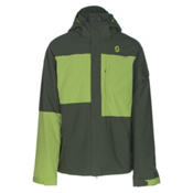 Scott Terrain Dryo Mens Insulated Ski Jacket, Alpine Green Oxford-Leaf Green, medium