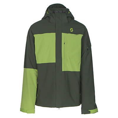 Scott Terrain Dryo Mens Insulated Ski Jacket, Alpine Green Oxford-Leaf Green, viewer