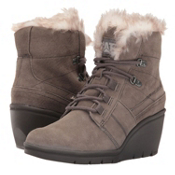 Caterpillar Harper Faux Fur WP Womens Boots, Gunsmoke, medium