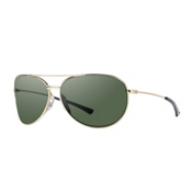 Smith Rockford Slim Polarized Womens Sunglasses, Gold-Polarized Gray Green, medium