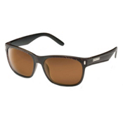 SunCloud Dashboard Sunglasses, Blackened Tortoise-Brown Polarized, medium