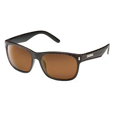 SunCloud Dashboard Sunglasses, Blackened Tortoise-Brown Polarized, viewer