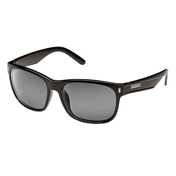 SunCloud Dashboard Sunglasses, Black-Grey Polarized, 600