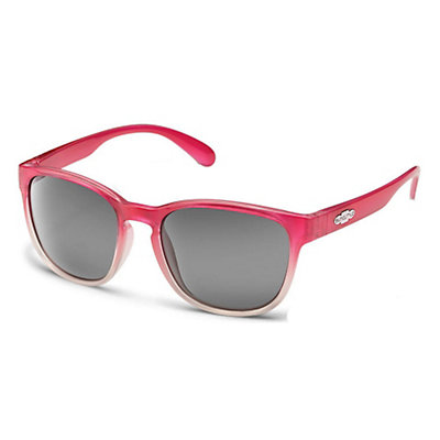 SunCloud Loveseat Polarized Womens Sunglasses, Pink Fade-Gray Polarized Polycarbonate, viewer