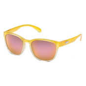 SunCloud Loveseat Polarized Womens Sunglasses, Yellow Fade-Pink Mirror Polarized Polycarbonate, medium