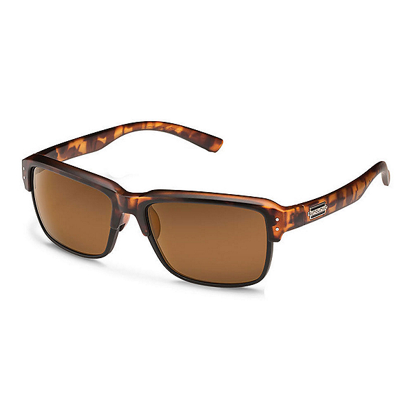 SunCloud Port_O_Call Sunglasses, Matte Tortoise-Brown Polarized, 600