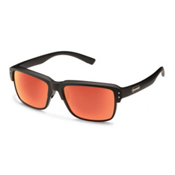 SunCloud Port_O_Call Sunglasses, Matte Black-Red Mirror Polarized, medium