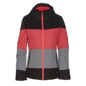 O'Neill Seashell Womens Insulated Snowboard Jacket, Poppy Red, medium