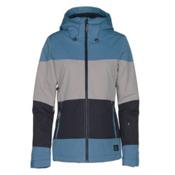 O'Neill Seashell Womens Insulated Snowboard Jacket, Azure Blue, medium