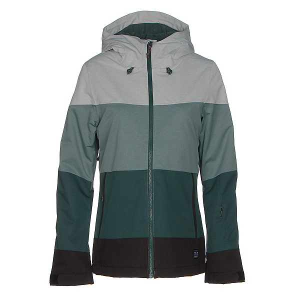 O'Neill Seashell Womens Insulated Snowboard Jacket, Gables Green, 600