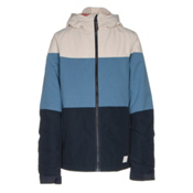 O'Neill Coral Girls Snowboard Jacket, Azure Blue, medium