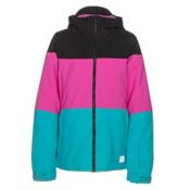 O'Neill Coral Girls Snowboard Jacket, Teal Blue, medium