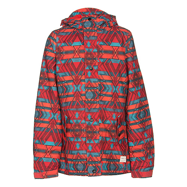 O'Neill Mystic Girls Snowboard Jacket, Poppy Red, 600