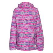O'Neill Mystic Girls Snowboard Jacket, Grape Soda, medium