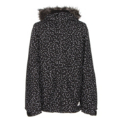 O'Neill Radiant Faux Fur Girls Snowboard Jacket, Black Aop W-White, medium