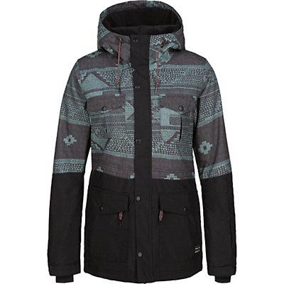 O'Neill Cluster Womens Insulated Snowboard Jacket, Green Aop, viewer
