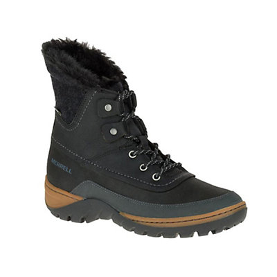Merrell Sylva Mid Lace Waterproof Womens Boots, Black, viewer