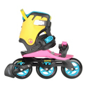 DOOP Swift III Womens Inline Skates, Pink-Yellow-Black, medium