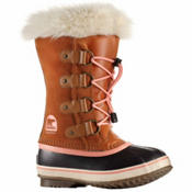 Sorel Youth Joan Of Arctic Girls Boots, Caramel-Summer Peach, medium
