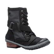 Sorel Slimboot Lace Womens Boots, Black-Dark Grey, medium