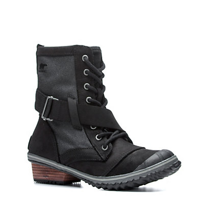 Sorel Slimboot Lace Womens Boots, Black-Dark Grey, viewer