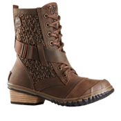 Sorel Slimboot Lace Womens Boots, Tobacco-Flax, medium