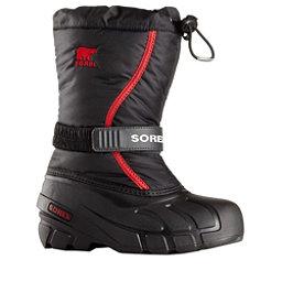Sorel Flurry Kids Boots, Black-Bright Red, 256
