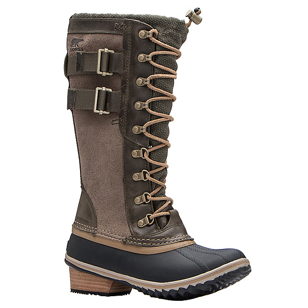Sorel Conquest Carly II Womens Boots, Peatmoss-Glare, 600