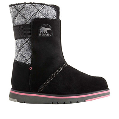 Sorel Rylee Girls Boots, Black, viewer