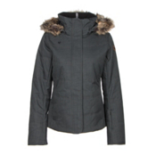 Obermeyer Tuscany w/ Faux Fur Womens Insulated Ski Jacket, Marble Grey, medium