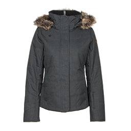 Obermeyer Tuscany w/ Faux Fur Womens Insulated Ski Jacket, Marble Grey, 256