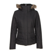 Obermeyer Tuscany w/ Faux Fur Womens Insulated Ski Jacket, Black, medium
