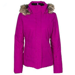 Obermeyer Tuscany w/ Faux Fur Womens Insulated Ski Jacket, Violet Vibe, 256